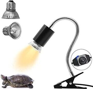 亀ライト 両生類用ライト 爬虫類ライト25W+50Wアナログ太陽 CHAU