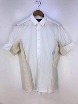 RAF SIMONS(ラフシモンズ)素材切替 半袖シャツシャツ