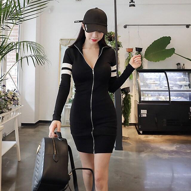 大きいサイズ ダブルライン ジップアップパーカー ミニワンピ < 女性ファッションの