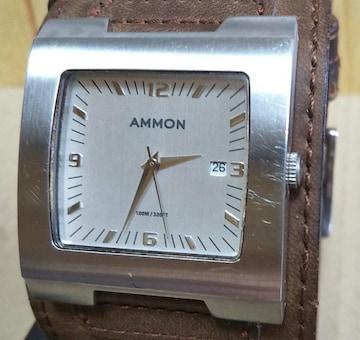 電池新品2 AMMON EL CASH DOUBLE RIVIT 腕時計 メンズ