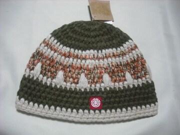 mb280 男 ELEMENT エレメント トラッド柄 ニット帽
