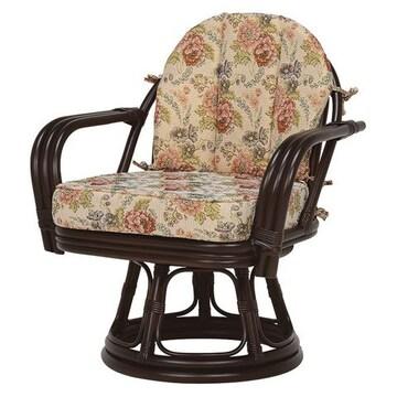 回転座椅子(ダークブラウン) RZ-933DBR