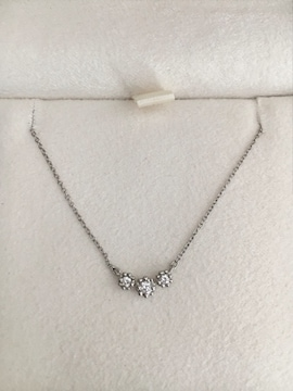 スタージュエリー ダイヤモンド ネックレス Pt950 0.06ct 2.0g