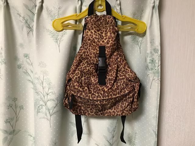 美品 ひょう柄 リュックサック ヒョウ柄 豹柄ナップサック  < 女性ファッションの