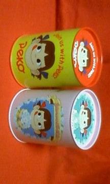☆ペコちゃん☆筒型缶☆2個セット☆