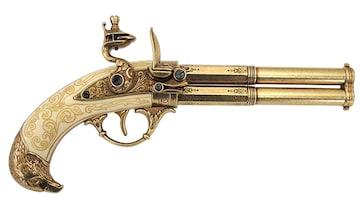 モデルガン フリントロック 2バレル レプリカ 銃 DENIX デニックス 1305
