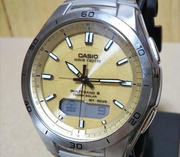 CASIO カシオ WVA-M640 電波 ソーラー アナデジ 腕時計 メンズ