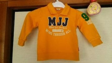 Moujonjon 襟元ロゴいりオレンジトレ−ナ−90