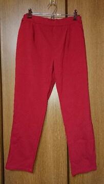 135 RyuRyu ボトムス ストレッチパンツ 赤 レッド L