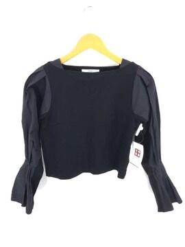 UN3D.(アンスリード)異素材切替クルーネックカットソー 長袖ロングスリーブクルーネックTシャツ