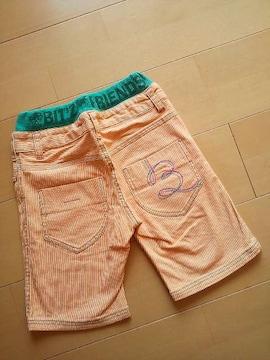 新品ハーフパンツ120オレンジ☆ビッツ/Bit'z