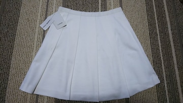 クイーンズコート スカート プリーツスカート 新品 ホワイト
