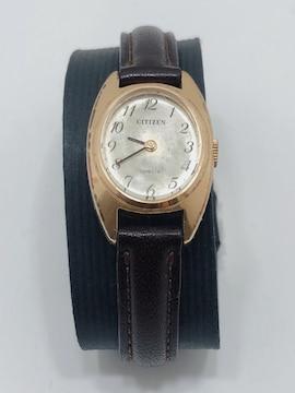 T207 CITIZEN スペシャル レディース 腕時計 手巻き 革ベルト
