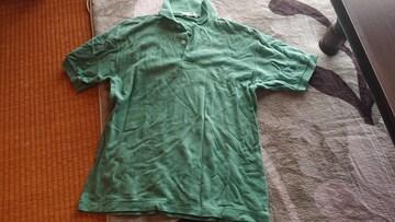 レア 日本製 Crocodile 半袖ポロシャツ ライムグリーン色