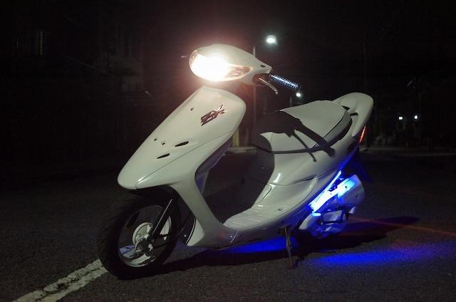 ライブディオ ZXリアスポ、LED付 前後タイヤ新品  AF34 < 自動車/バイク