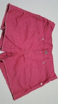GU★ピンクのショートパンツ(*^^*)ウエスト平置36cm