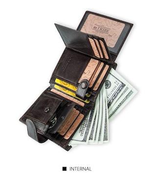 ★二つ折り大容量コンパクト財布BR