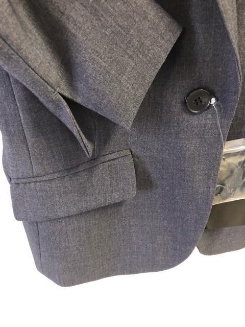 新品☆M防しわUV ストレッチスカートスーツ グレー☆d217 < 女性ファッションの