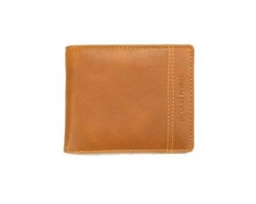 送料無料★マチ幅1,5センチ!二ッ折財布★JP5004キャメル(税込)