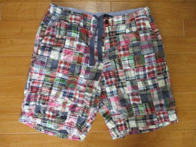 J.CREW ジェイクルー パッチワーク ショートパンツ W33  < 男性ファッションの