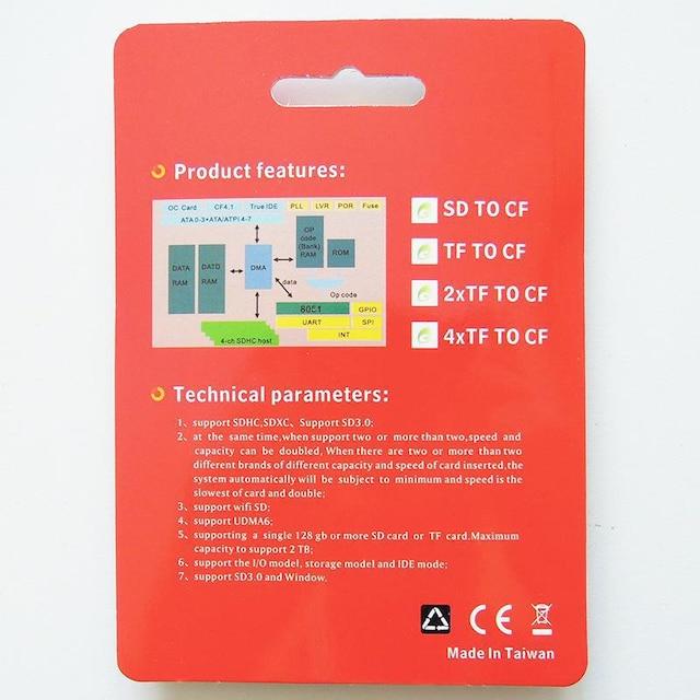 C004 SD to CF カードアダプター WiFi SD/SD 対応 < 家電/AVの