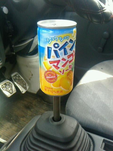 空き缶シフトノブパイン&マンゴーソーダM12×P1.25人気 < 自動車/バイク