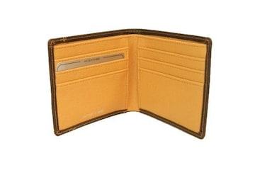 送料無料★マチ幅1,5センチ!二ッ折財布★JP5004茶(税込)