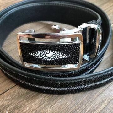 スティングレイ エイ革 ガルーシャ ベルト 約3.7cm×約125cm