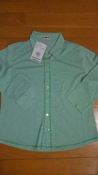 黄緑チェックシャツ��1143