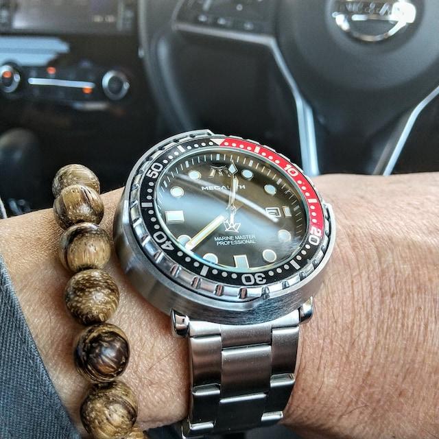 ツナ缶 腕時計 designBezel不可動 3AMT防水 Megalith 巨石 < 男性アクセサリー/時計の