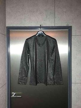 5351プールオム/ラメ糸シルバー長袖カットソーTシャツ/2