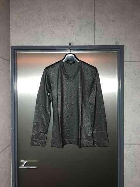 5351プールオム/ラメ糸シルバー長袖カットソーTシャツ/2  < ブランドの