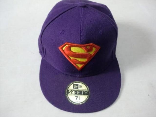 ニューエラ スーパーマン キャップ 57,8センチ  < ブランドの