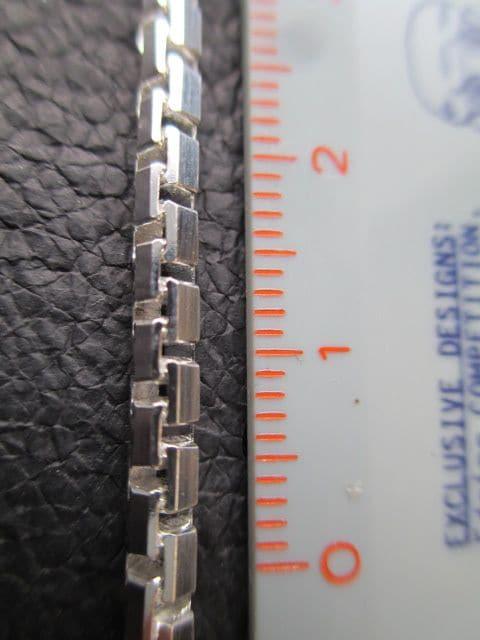 イタリア製シルバー925チェーン 3.2mm 50cm23.1g *SideBox060 < 男性アクセサリー/時計の