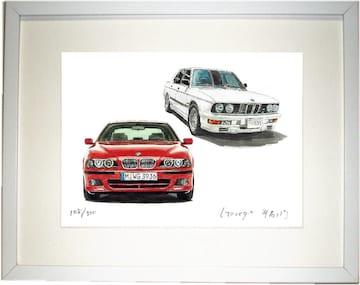 GC-1318 BMW M535/530限定版画サイン額装作家平右ヱ門