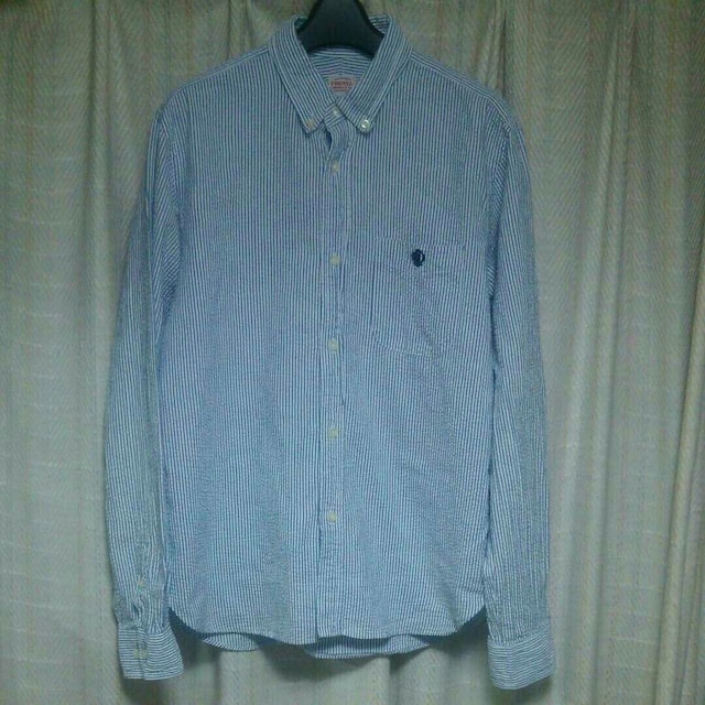 PHIGVELMAKERS & Co.フィグベルワンポイントロゴ刺繍シワ加長袖シャツサイズ1中古  < 男性ファッションの