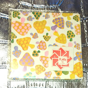 昭和レトロ カラフル きのこ 折り紙 50枚 ファンシー 千代紙