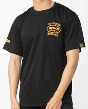 新品正規バンソンVS21804SメッシュTシャツ黒×イエロー