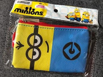 新品未使用ミニオンズひも付きコインパスケース財布小銭入れ小物入れ�D