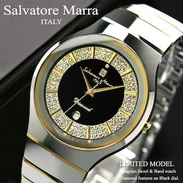 送料込!入手困難【Salvatore Marra】天然ダイヤ&タングステン