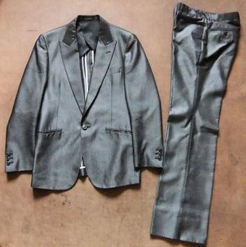 高級感素材 HIGH STREETハイストリート 上下 スーツ グレー M