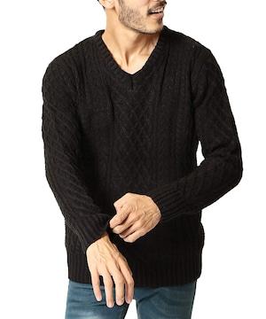 ニット セーター メンズ ニット 厚手 長袖  防寒 B