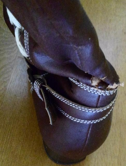 大きいサイズ ブーツ ロングブーツ 27.0 4E 幅広 ブラウン 茶 編 < 女性ファッションの