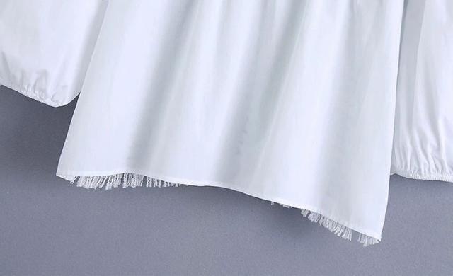 ツイード ドッキング シャツ ブラウス ZARAお好きな方に★ XS < 女性ファッションの