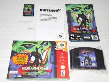 N64★BATMAN BEYOND RETURN OF THE JOKER 海外版