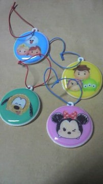 ディズニー ミニーマウス 他 全4個 キリンの非売品 キーホルダー