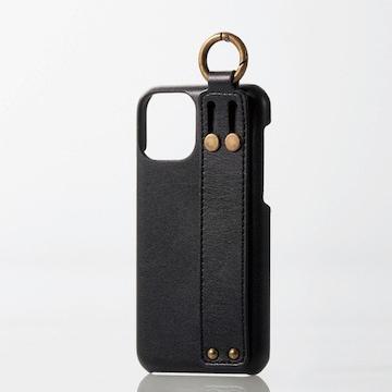 ★ELECOM iPhone 11 Pro ソフトレザー Coronet カバー ネロ