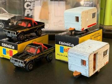 絶版黒箱日本製 ハイラックス&キャンピングカー(ジャンク付き)