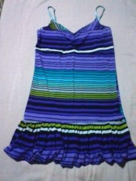 ヒラミニワンピ紫マリン ボーダー安室アゲハお姉 激安 美品