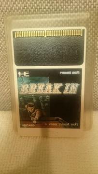 中古 貴重!PCエンジン  Huカード BREAK IN ブレイクイン ビリヤード